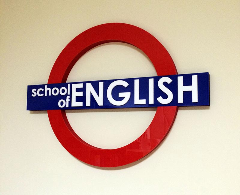 reklama indoor - school of english